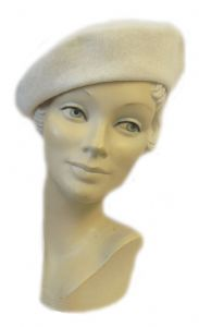 New  Ivory Classic Vintage 1940's style Beret Hat (2)